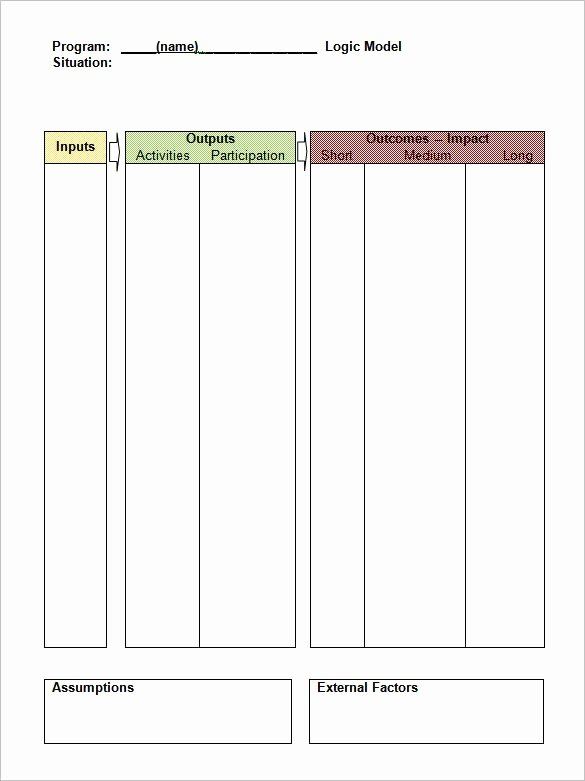 Logic Model Template Word New Logic Model Template