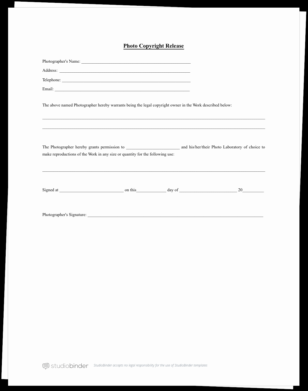 Logo Release form Template Inspirational the Plete Guide to Actor Release forms Free Template