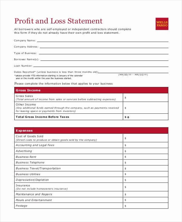Loss and Profit forms Inspirational Free 8 Sample Profit and Loss Statement forms In Pdf