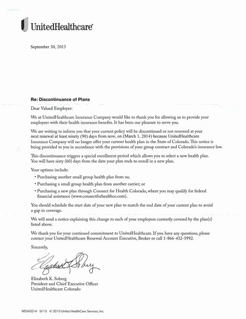 Loss Of Coverage Letter Template Beautiful Health Insurance Cancelled Join the Club