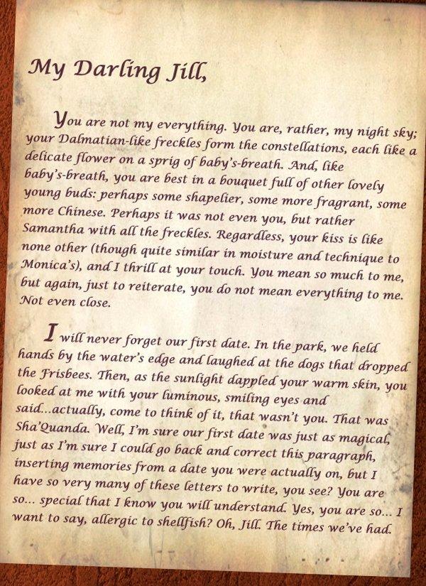 Love Letter by Great Men Elegant Polygamist S Love Letter Collegehumor Post