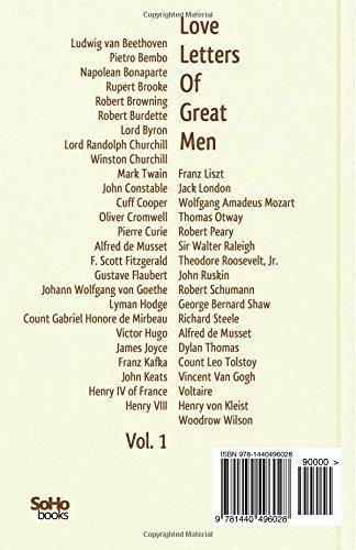 Love Letter by Great Men Lovely James Joyce Love Letters New Love Letters Great Men Vol 1