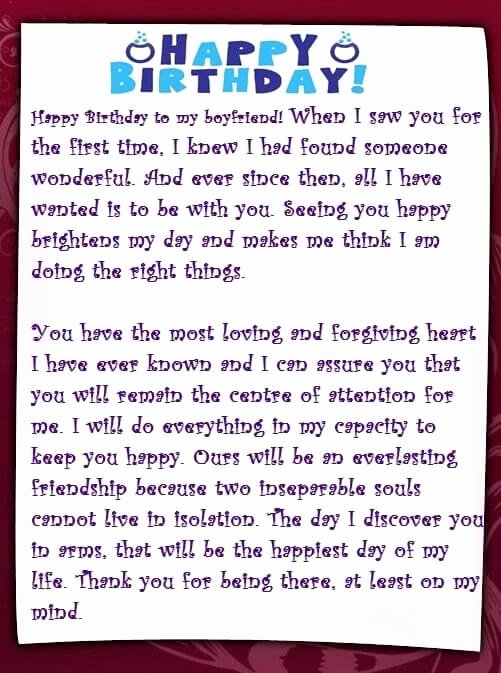 Love Letter to My Boyfriend Awesome Best Romantic Birthday Letter for Boyfriend [melt S Heart]