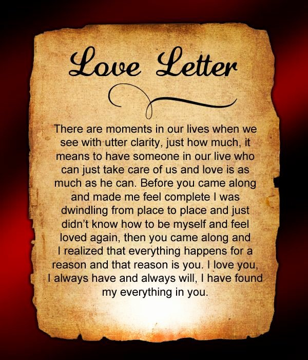 Love Letter to My Boyfriend New Love Letters for Him 40 Love Letters for Him