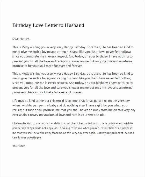 Love Letter to Wife Awesome Sample Love Letters to My Husband 7 Examples In Word Pdf
