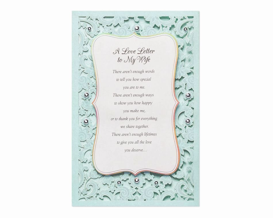Love Letter to Wife Lovely Love Letter Mother S Day Card for Wife American Greetings