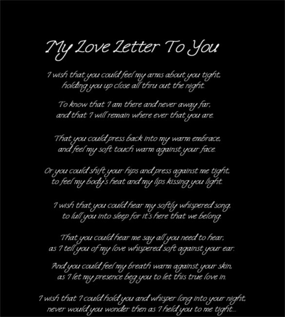sample love letters for him