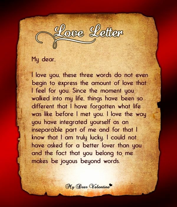 Love Letters to Him Luxury You are My Man Love Letters for Him