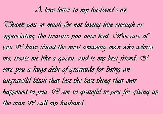 Love Letters to Your Husband Awesome Love Letter to My Husband S Ex