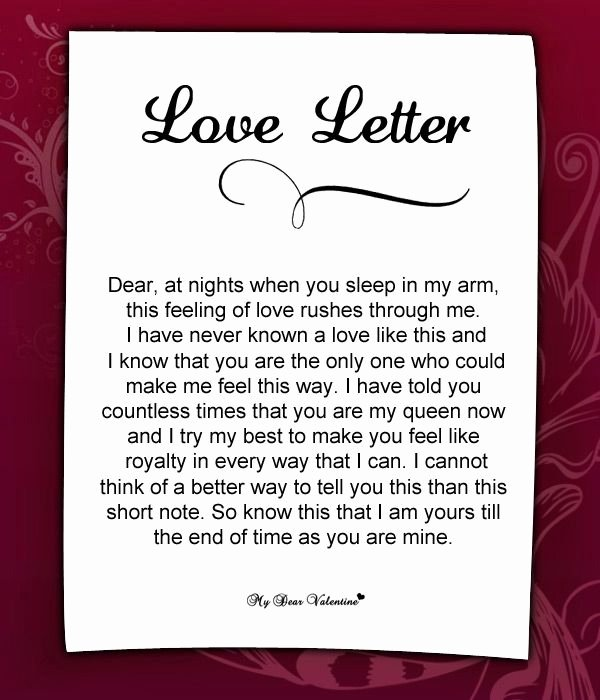 Love Letters to Your Husband Beautiful Love Letter for Her 57