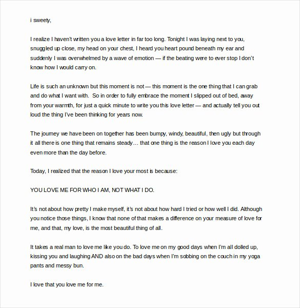 Love Letters to Your Husband Best Of 7 Romantic Love Letter Templates Doc Pdf