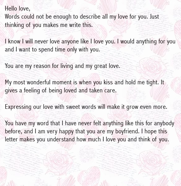 Love Letters Your Boyfriend Unique Love Letters for Boyfriend Romantic Love Letter for Him