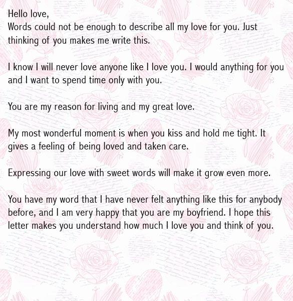 Love Letters Your Boyfriend Unique Love Letters for Boyfriend Romantic Love Letter for Him