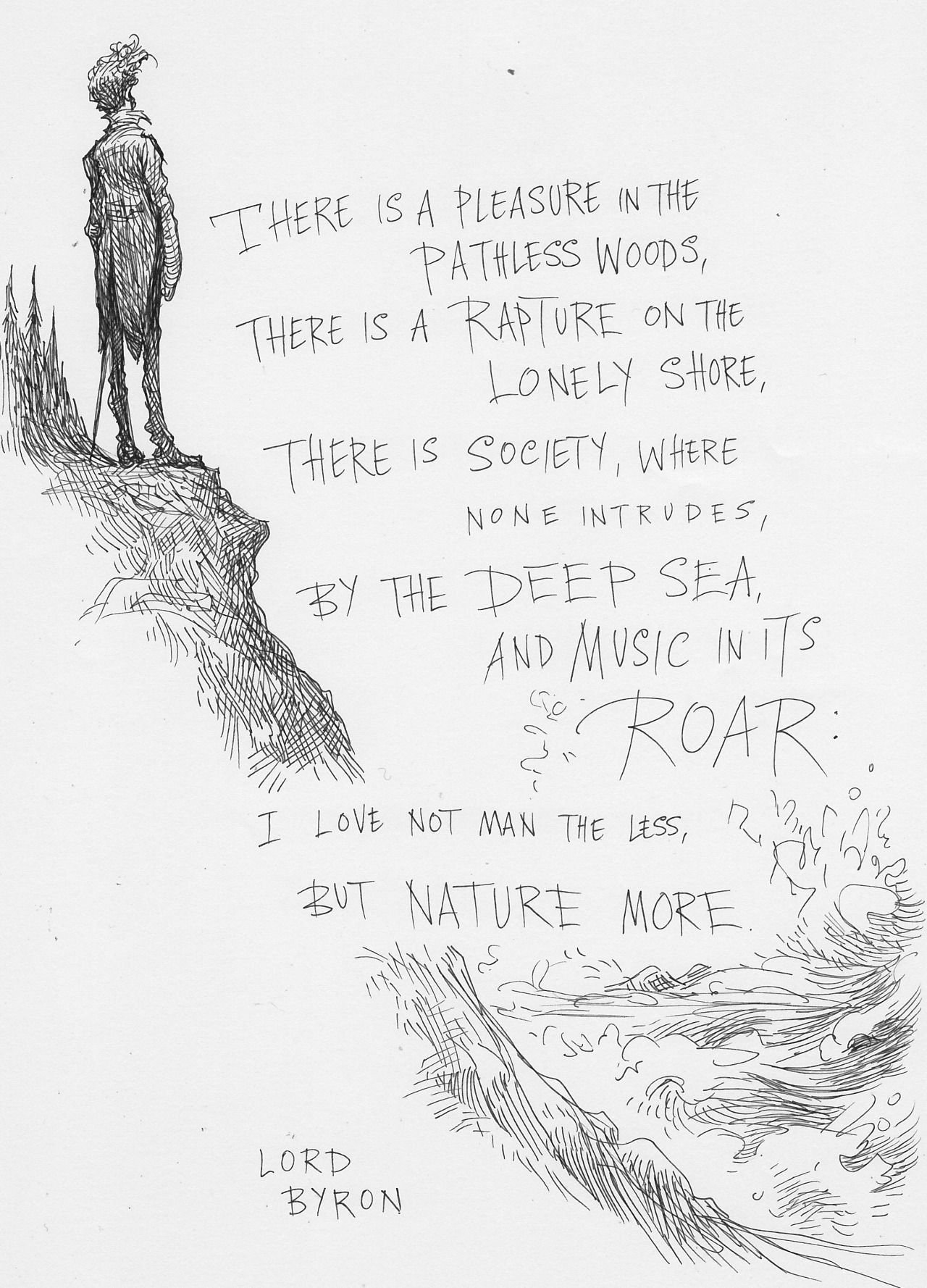 Love Poems Of Great Men Inspirational Lord byron Poem by Chris Riddell