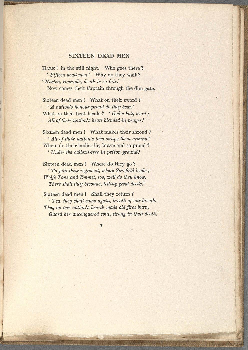 Love Poems Of Great Men Unique Sixteen Dead Men – Changed Utterly