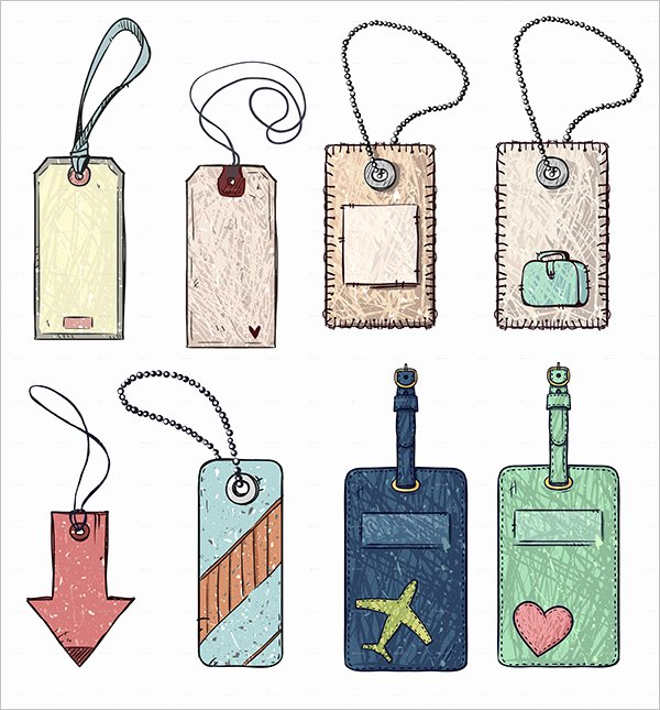Luggage Tag Template Free Printable Beautiful Luggage Tag Template Free Psd Templates Download