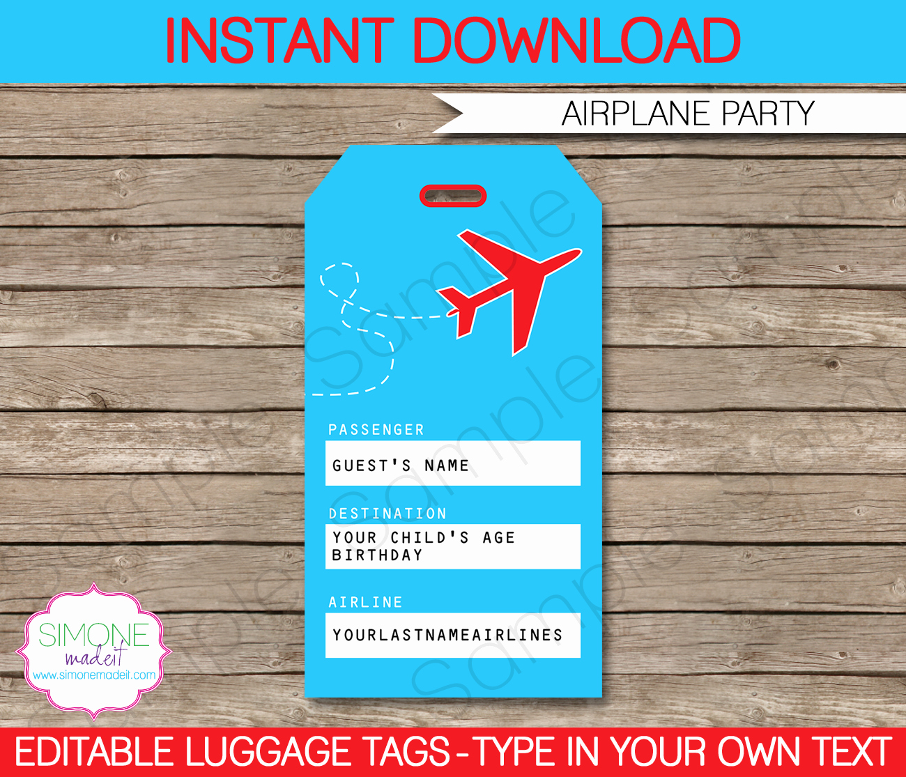 Luggage Tag Template Free Printable Best Of Airplane Party Printables Invitations & Decorations