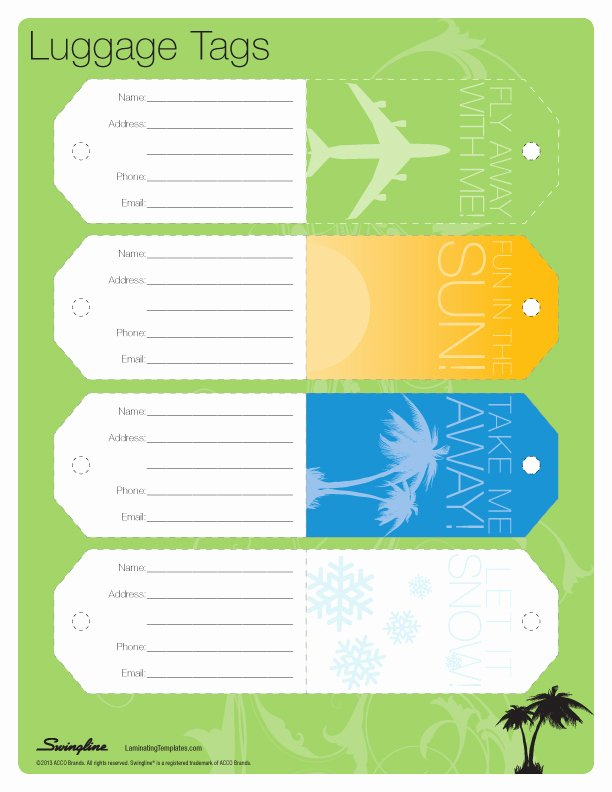 Luggage Tag Template Free Printable Best Of Luggage Tag Template
