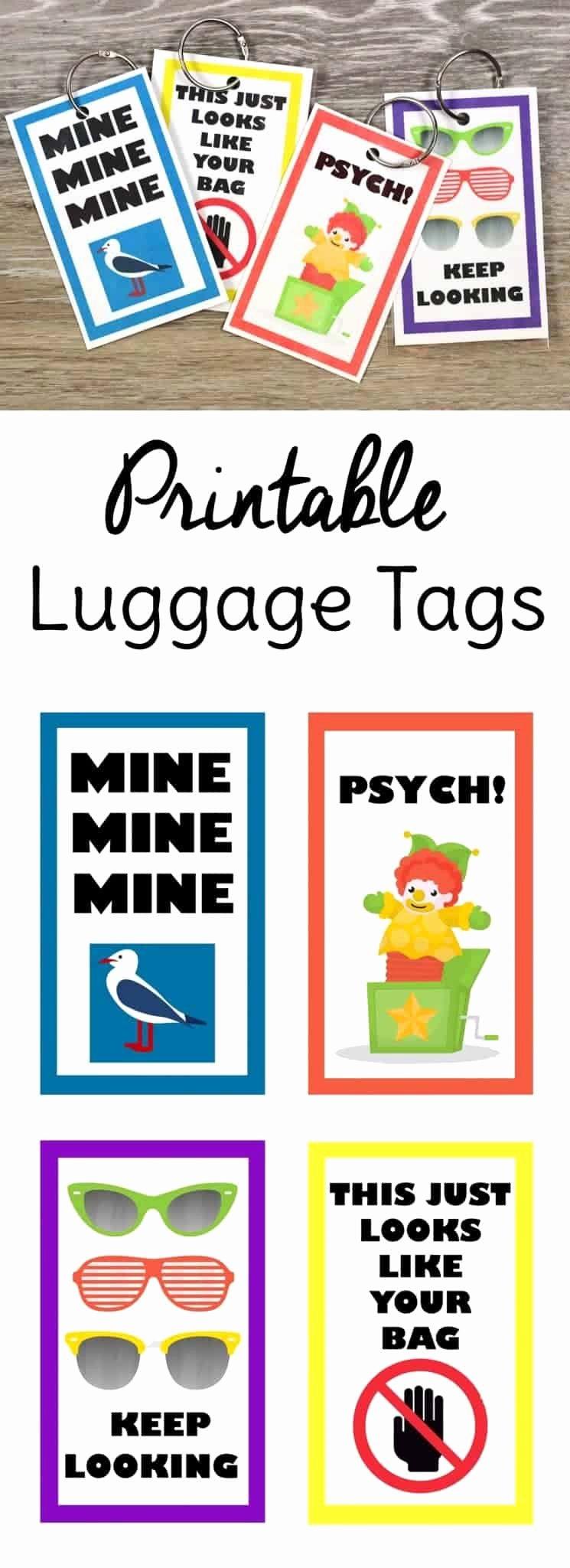 Luggage Tag Template Free Printable Elegant Funny Free Printable Luggage Tags