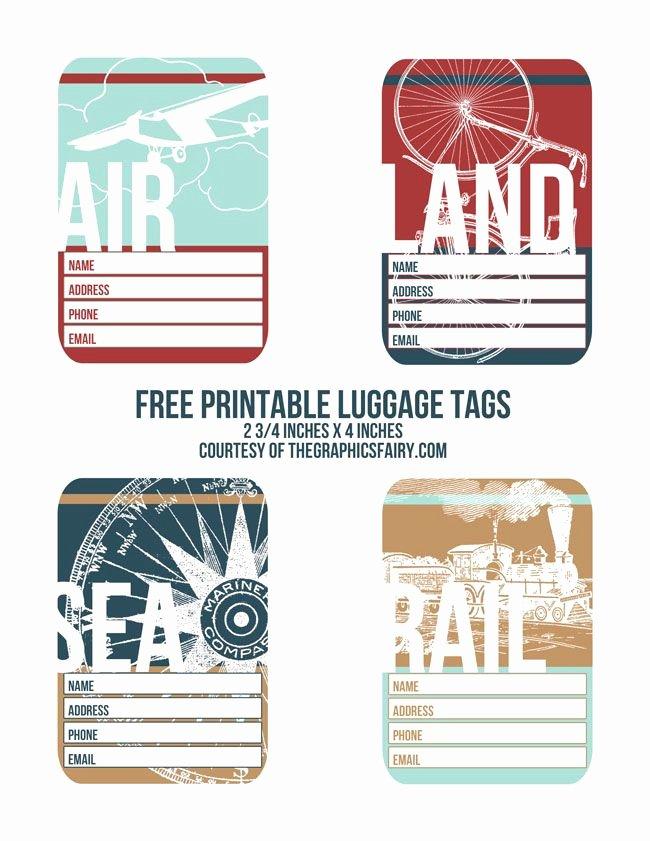 Luggage Tag Template Free Printable Fresh Cutest Printable Luggage Tags Printables