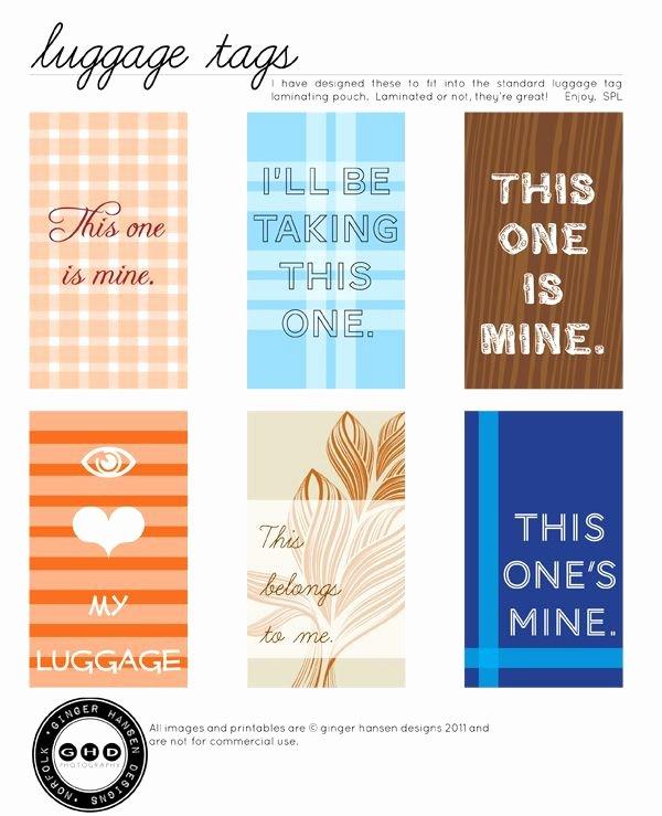Luggage Tag Template Free Printable Inspirational Printable Luggage Tags Free Craftiness