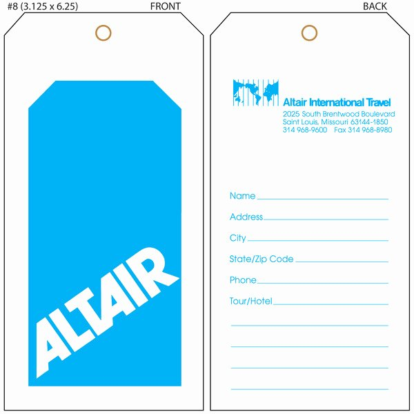 Luggage Tag Template Free Printable Lovely Luggage Tag Template