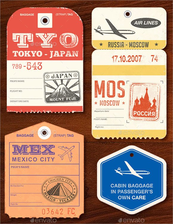 Luggage Tag Template Free Printable New Sample Luggage Tag Template 28 Free Documents In Pdf Psd
