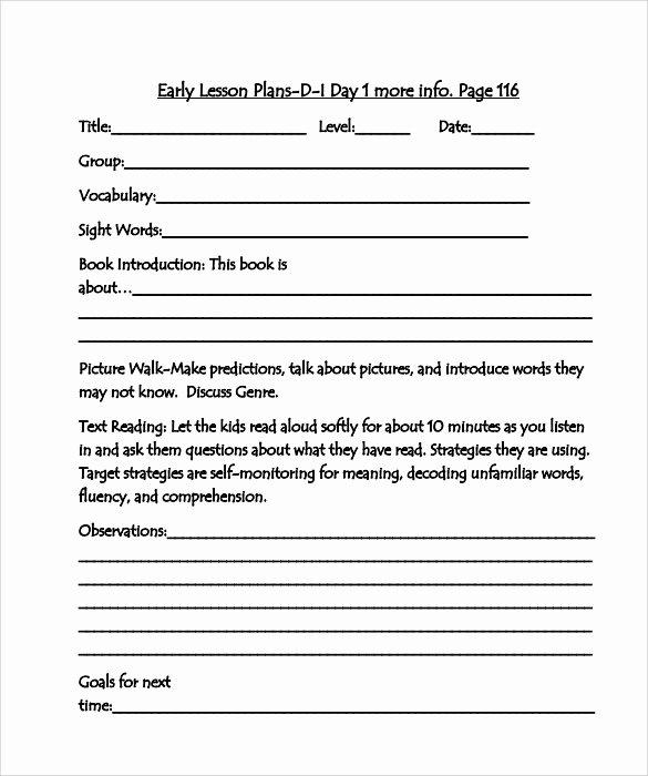 Madeline Hunter Lesson Plans New 10 Sample Guided Reading Lesson Plans