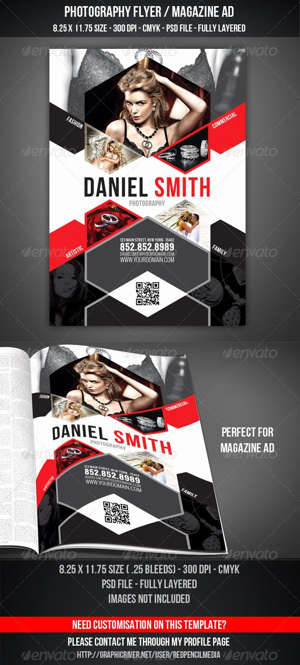 Magazine Ad Template Free Beautiful Graphy Flyer Magazine Ad by Redpencilmedia