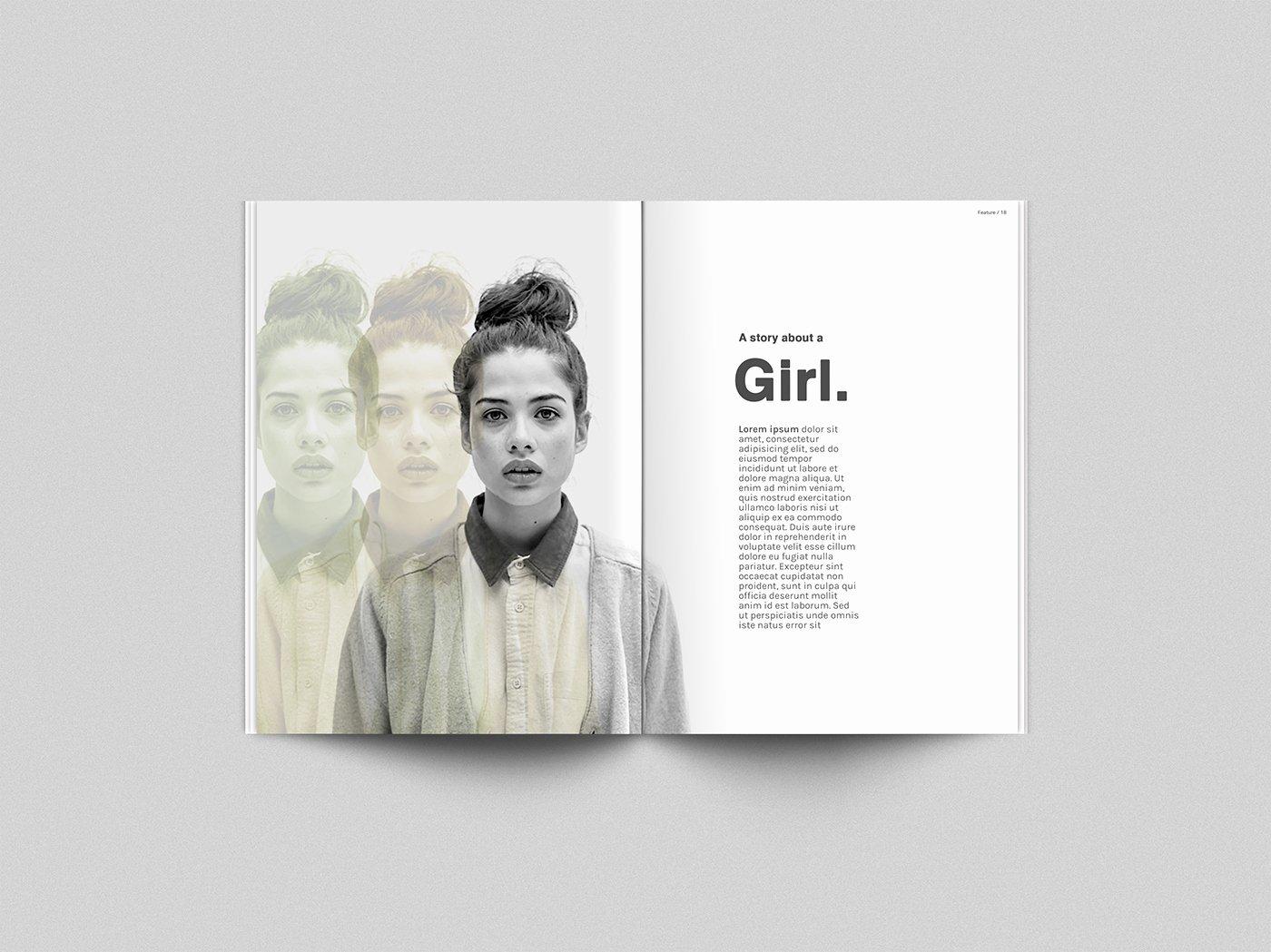 Magazine Ad Template Free Elegant Free Download Magazine Mockup Template