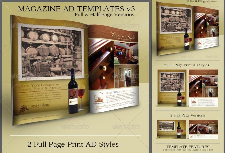 Magazine Ad Template Free Elegant Print Ad Templates V3 Full & Half Page Designs ‹ Psdbucket