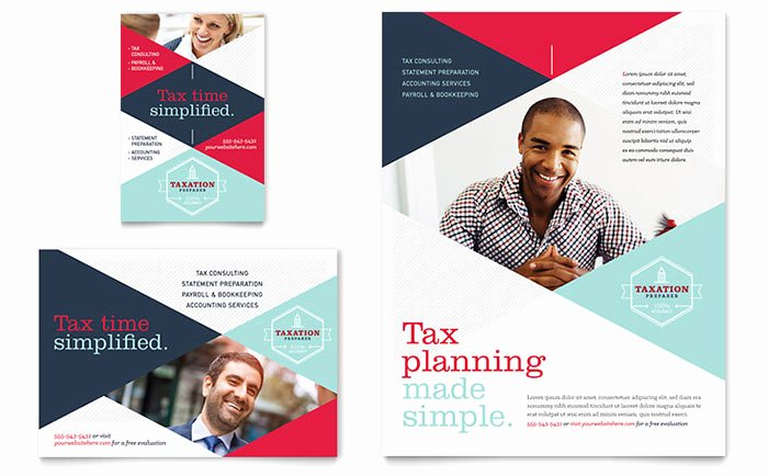 Magazine Ad Template Free Elegant Tax Preparer Flyer & Ad Template Word & Publisher