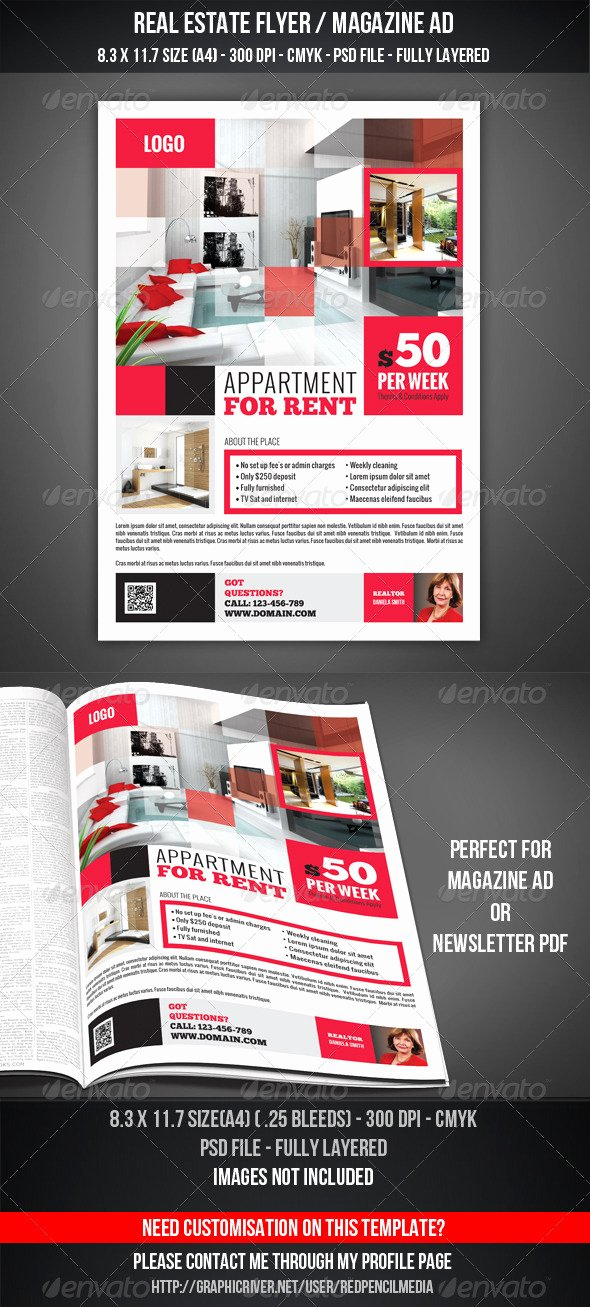 Magazine Ad Template Free Luxury Real Estate Flyer Magazine Ad