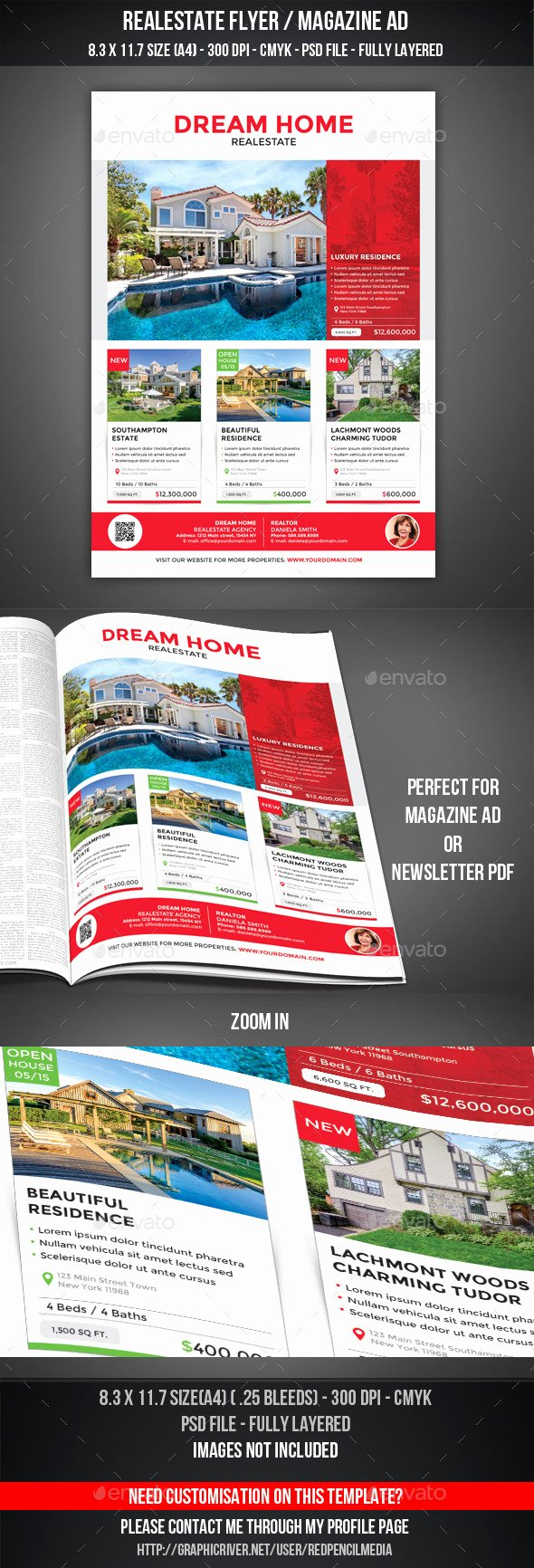 Magazine Ad Template Free Luxury Shop Template Realestate Flyer Tinkytyler