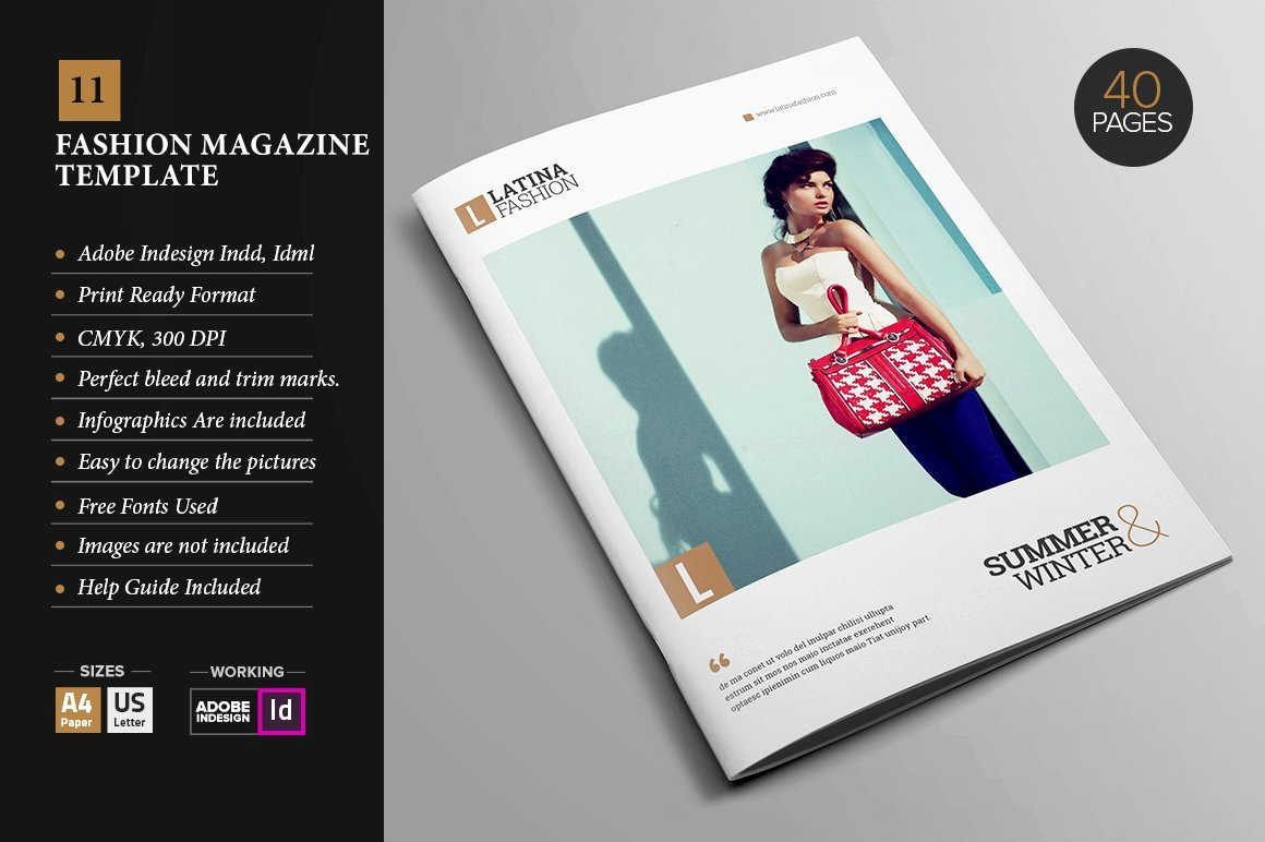 Magazine Ad Template Free New Magazine Template 11 Magazine Templates Creative Market
