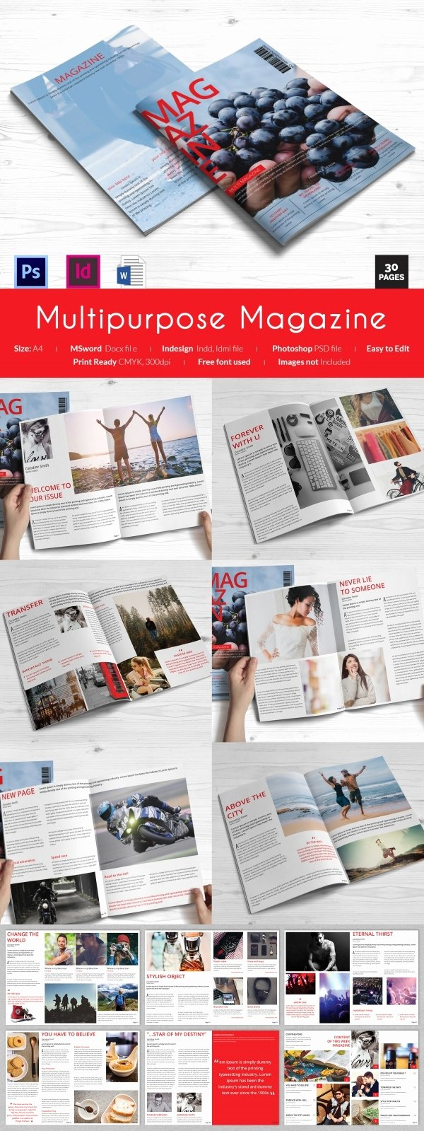 Magazine Templates for Microsoft Word Elegant 55 Brand New Magazine Templates Free Word Psd Eps Ai