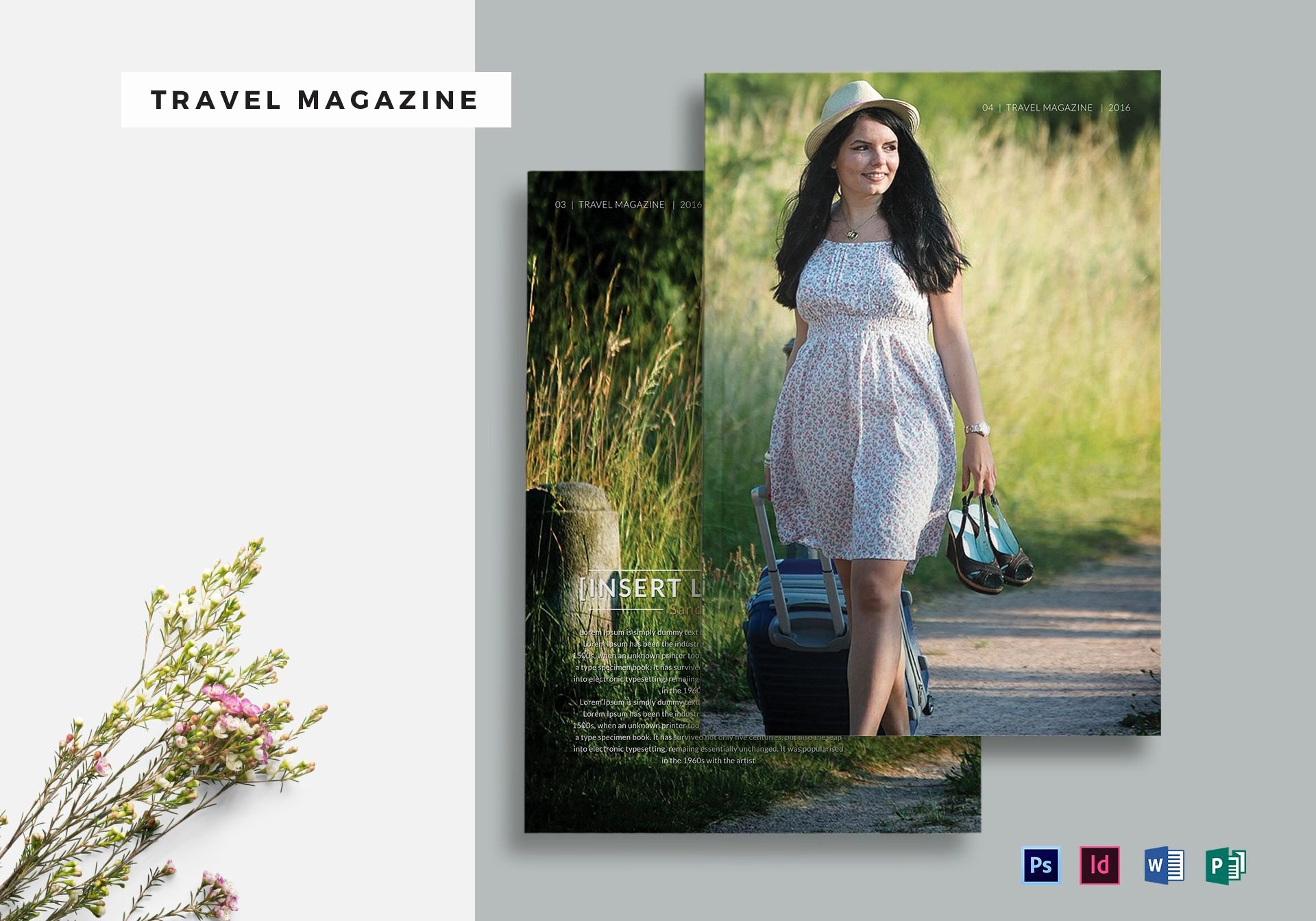 Magazine Templates for Microsoft Word Unique Travel Magazine Template In Psd Word Publisher Indesign