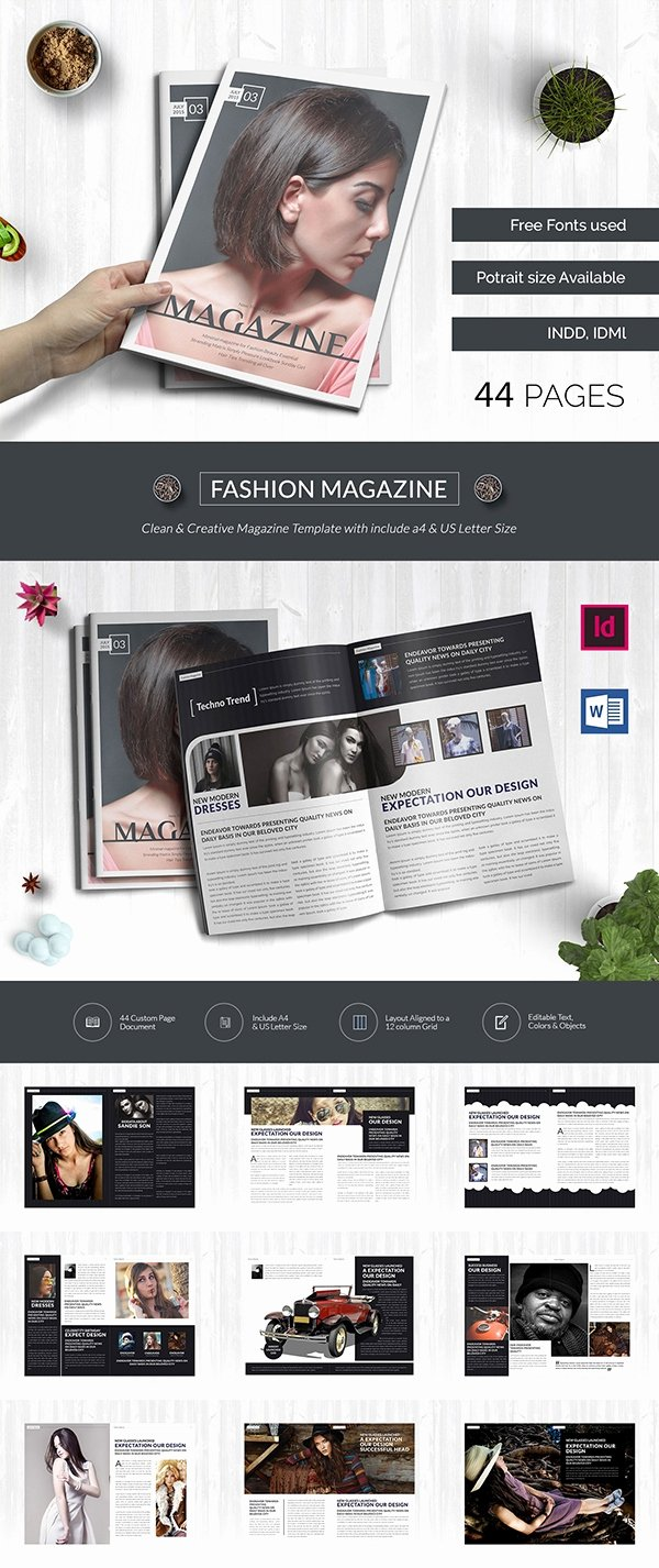 Magazine Templates for Word Awesome 55 Brand New Magazine Templates Free Word Psd Eps Ai