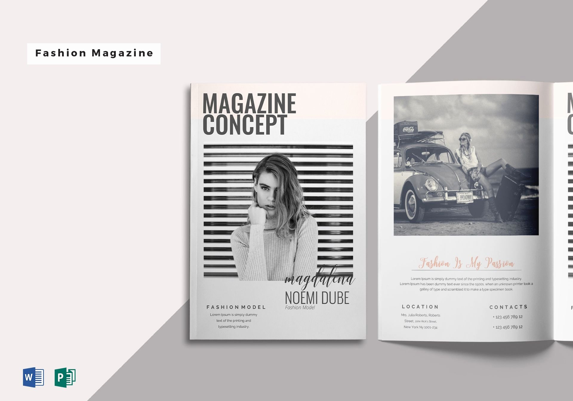 Magazine Templates for Word Awesome Fabulous Fashion Magazine Template In Word Publisher