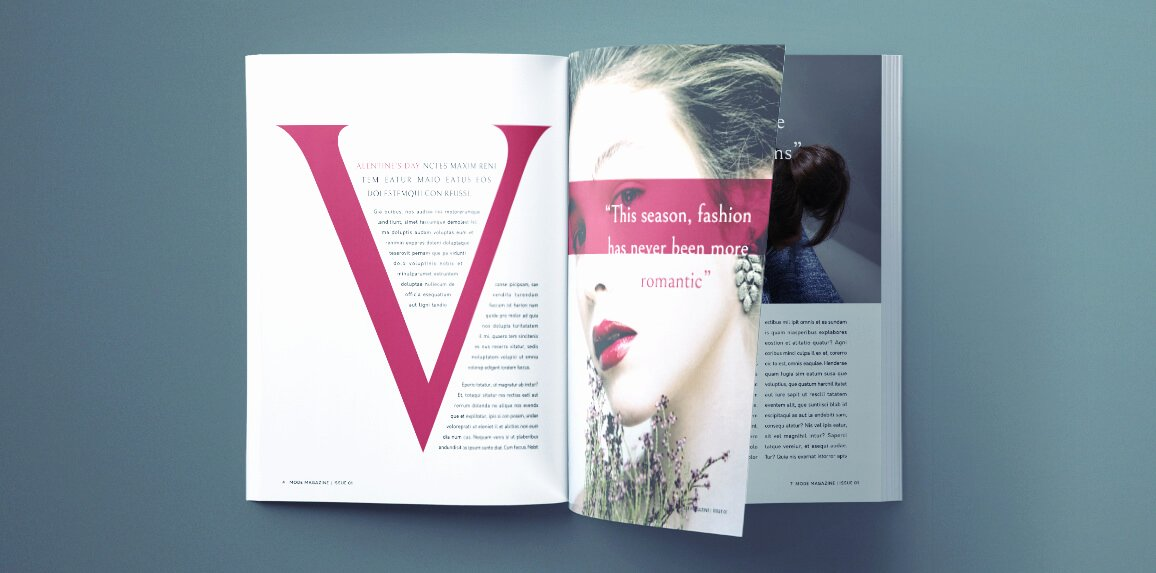 Magazine Templates for Word Beautiful Beautiful Fashion Magazine Template for Indesign