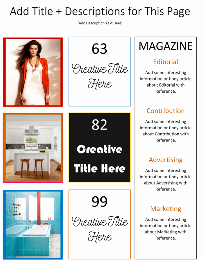 Magazine Templates for Word Elegant Magazine Template for Microsoft Word Dotxes