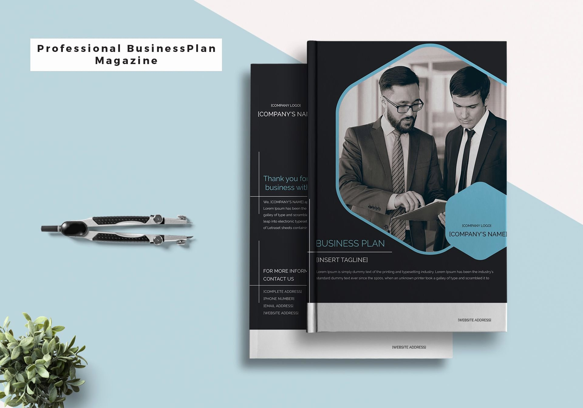Magazine Templates for Word New Professional Business Plan Magazine Template In Psd Word