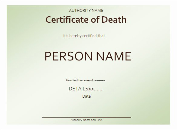 Make A Fake Death Certificate Unique 7 Death Certificate Templates Psd Ai Illustrator Word