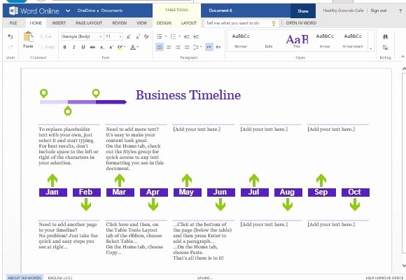 Make A Timeline In Word Beautiful Business Project Timeline Template for Word Line