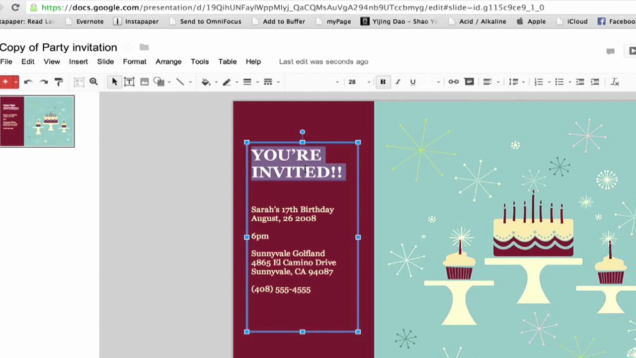 Make An Invitation In Word Awesome How to Create A Party Invitation In Google Documents
