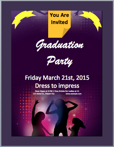Make An Invitation In Word Beautiful Graduation Party Invitation Flyer Template – Microsoft