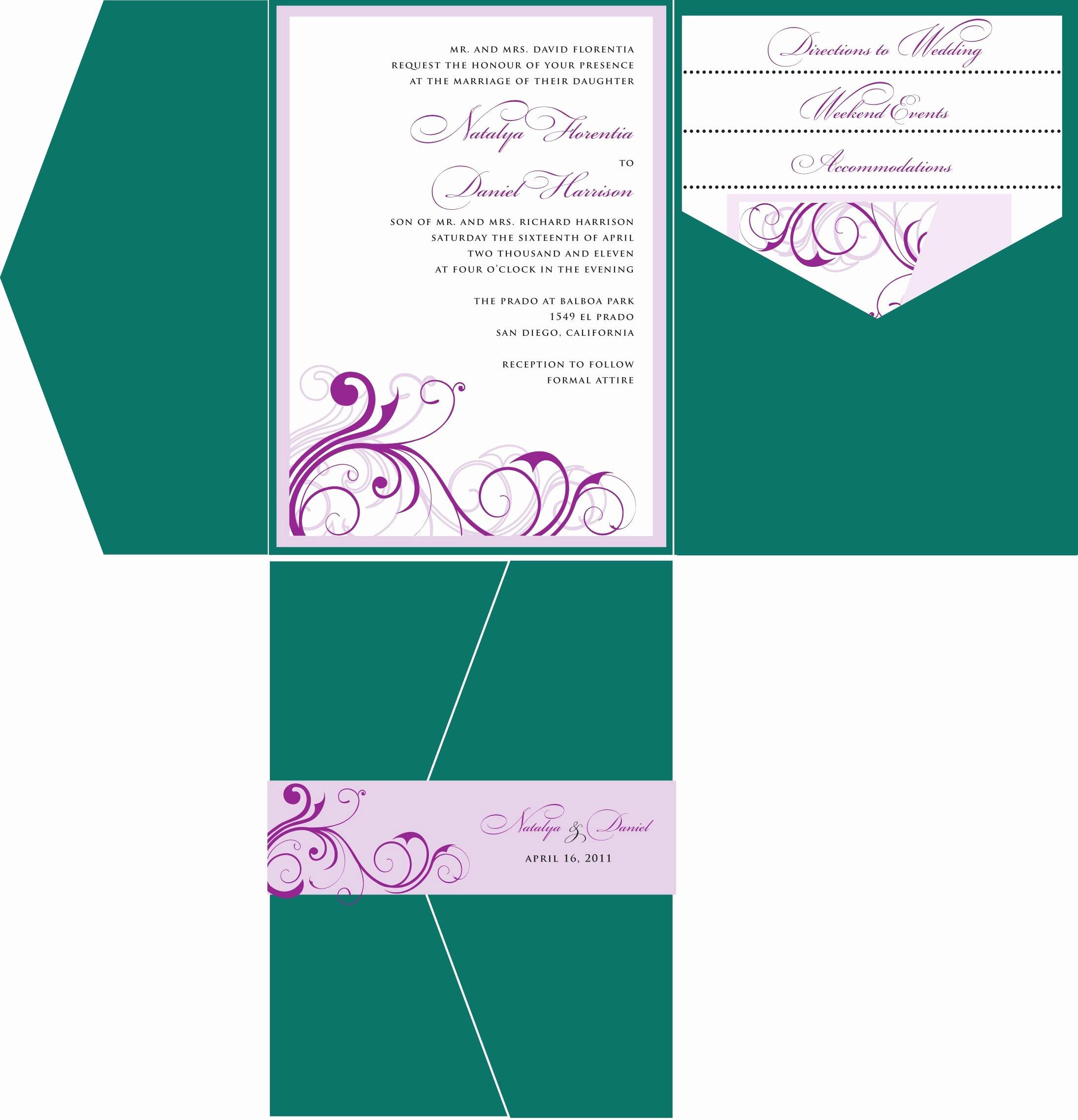 Make An Invitation In Word Fresh Wedding Invitations Template Wedding Invitations