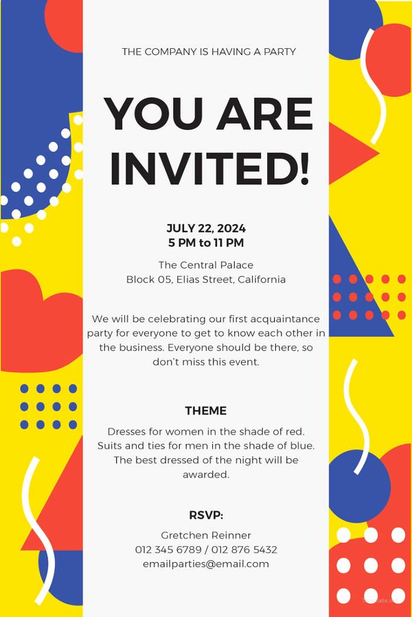 Make An Invitation In Word Lovely 15 Email Invitation Template Free Sample Example