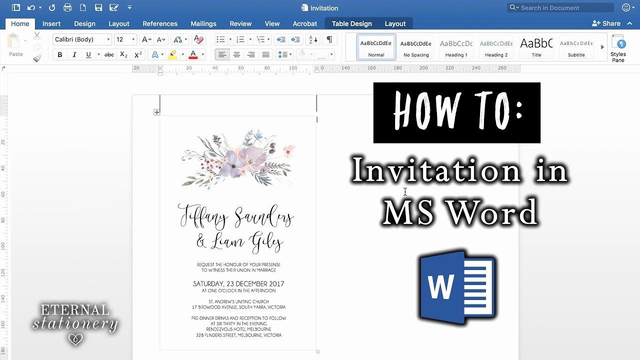 Make An Invitation In Word Luxury How to Make An Invitation In Microsoft Word