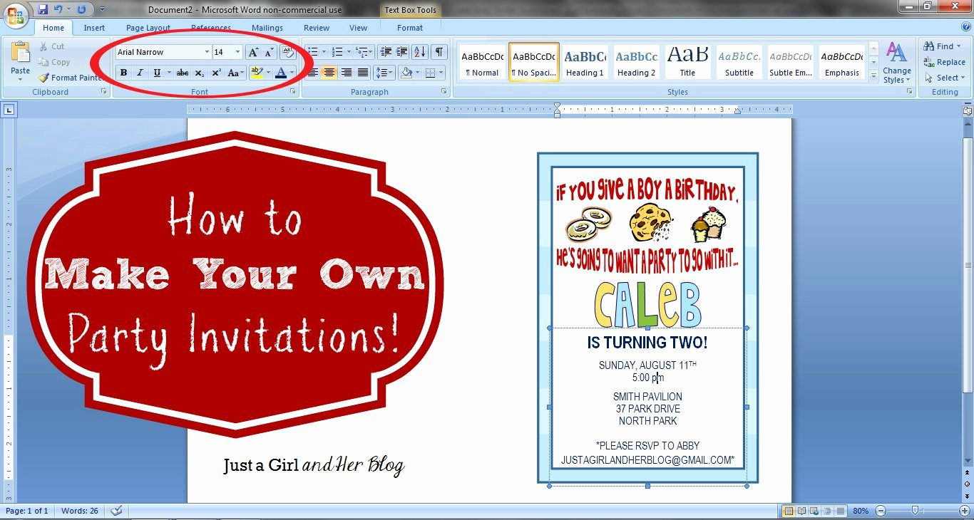 Make An Invitation In Word Unique Create Birthday Invitations Free Printable